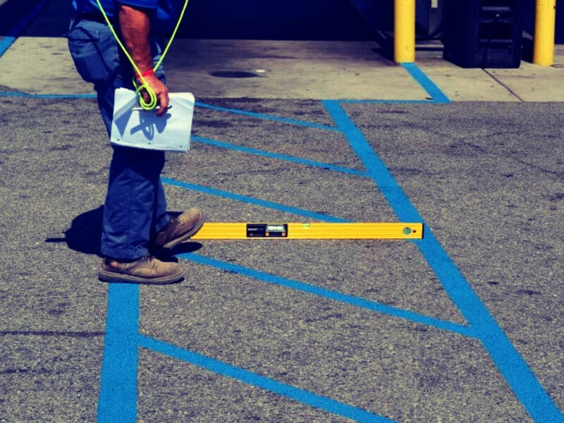 parking lot striping price